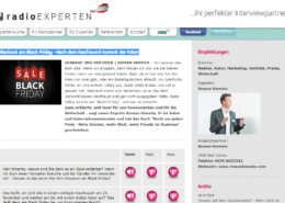 Blackout am Black Friday - Interview radio EXPERTEN - Mag. Roman Kmenta, Preisexperte