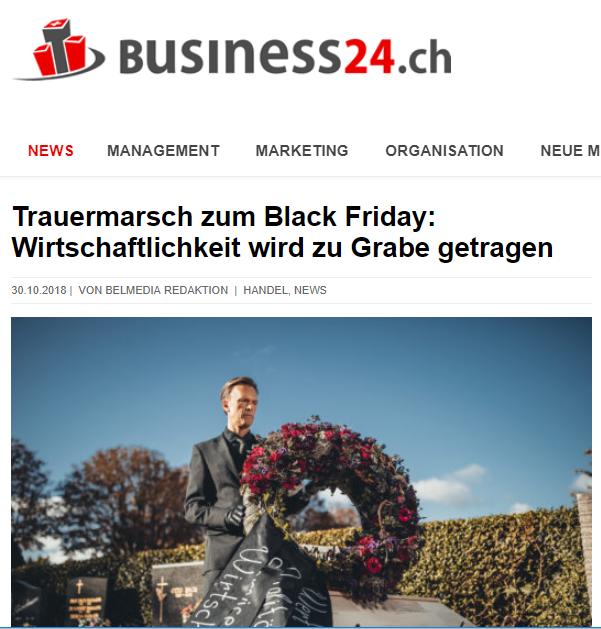Trauermarsch zum Black Friday: Wirtschaftlichkeit wird zu Grabe getragen - Business24.ch - Roman Kmenta - Preisexperte