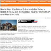 Nach dem Kaufrausch kommt der Kater – Black Friday, ein schwarzer Tag für Wirtschaft und Gesellschaft - firmenpresse.de - Roman Kmenta - Preisexperte
