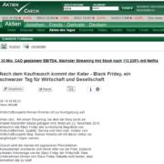 Nach dem Kaufrausch kommt der Kater - via OTS - Aktiencheck - Preisexperte Mag. Roman Kmenta