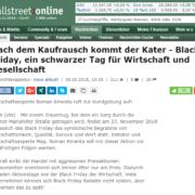 Nach dem Kaufrausch kommt der Kater – Black Friday, ein schwarzer Tag für Wirtschaft und Gesellschaft - wallstreet:online - Roman Kmenta - Preisexperte