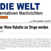 Black Friday - Wenn Rabatte zur Droge werden - Die Welt der alternativen Nachrichten - Trauerzug von Preisexperten Mag. Roman Kmenta