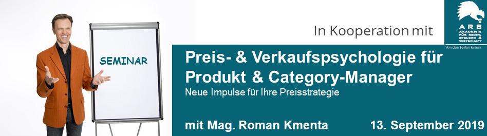 Preis- & Verkaufspsychologie für Produkt- & Category-Manager - Mag. Roman Kmenta