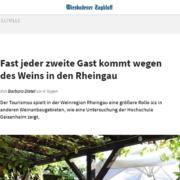 Fast jeder zweite Gast kommt wegen des Weins in den Rheingau - Roman Kmenta bei der zweiten Rheingau-Konferenz im Januar 2019 - Empfehlungsmarketing - Wiesbadener Tagblatt