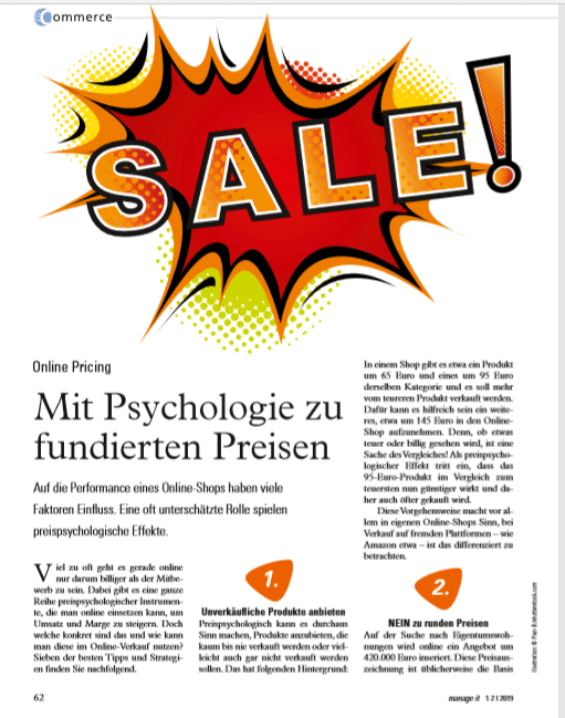 e commerce - Mit Psychologie zu fundierten Preisen - Online Pricing - Roman Kmenta - Keynote Speaker und Autor