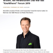 KnoWhere! Forum 2019 mit Keynote Speaker Mag. Roman Kmenta - Leadersnet 03/2019