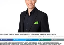 """KnoWhere! Forum 2019 mit Keynote Speaker Mag. Roman Kmnenta - Vortrag """"Nicht um jeden Preis"""" - Wie sich Eventagenturen wertvoll vermarkten"""