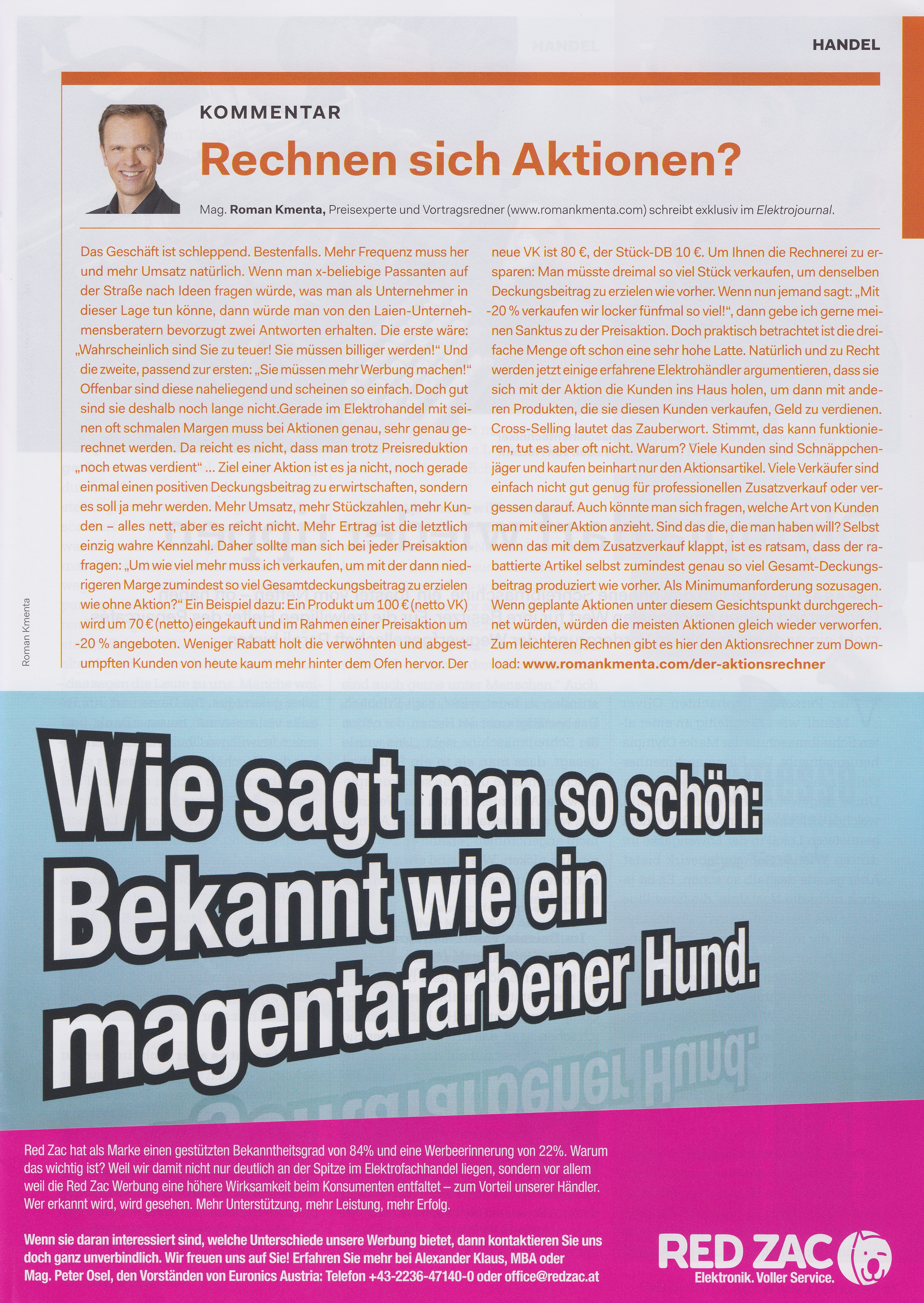 Elektrojournal 04 2019 - Roman Kmenta - Rechnen sich Aktionen?