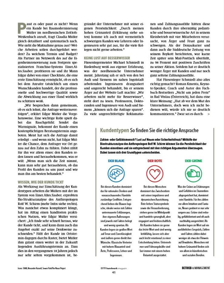 Nein sagen - 2 - handwerks-magazin 07/2019 - Berater und Keynote Speaker Roman Kmenta