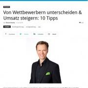 Von Wettbewerb unterscheiden - unternehmer.de 07/2019 - Roman Kmenta - Keynote Speaker und Autor