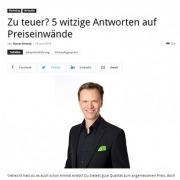 5 witzige Antworten auf Preiseinwände - unternehmer.de - Roman Kmenta - Keynote Speaker und Autor