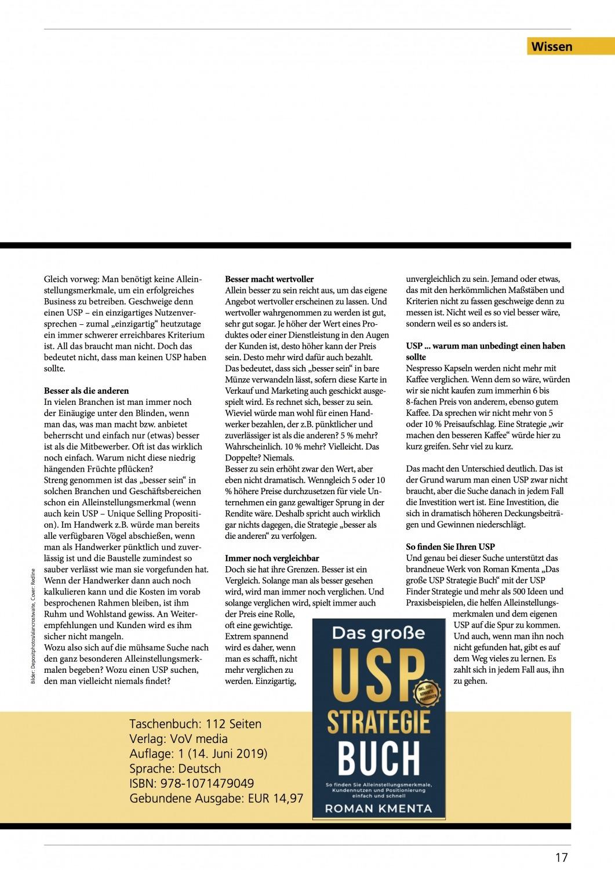 Founders Magazin Ausgabe 4 2019 - USP Buch 2