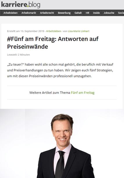 """""""zu teuer!"""" - Antworten auf Preiseinwände - karriere.at 09-2019"""