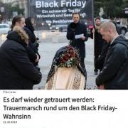 Trauermarsch rund um den Black Friday-Wahnsinn - Roman Kmenta - Beitrag bei Elektrojournal 10/2019