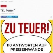 """Beitrag über Roman Kmentas neues Buch """"Zu teuer!""""- Auto & Wirtschaft - Oktober 2019"""