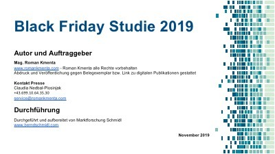 Studie Black Friday - Kmenta - 2019