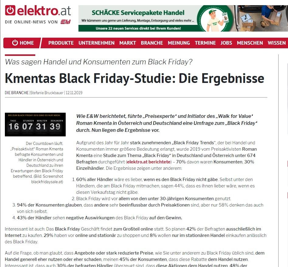 Kmentas Black Friday-Studie: Die Ergebnisse - elektro.at - E&W - Stefanie Bruckbauer über Roman Kmentas Studie zum Black Friday 2019