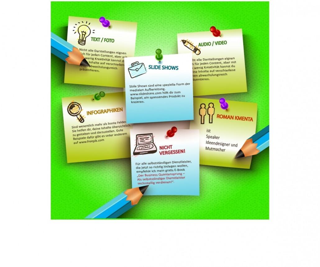 Content Creation Beispiel Infografik - Kmenta - Redner - Keynote