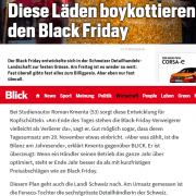 Black Friday 2019 - Interview Roman Kmenta bei Blick.ch