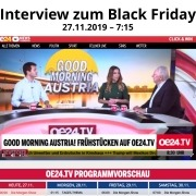 Morgenshow Black Friday - Mag. Roman Kmenta beim Oe24 Frühstückstalk