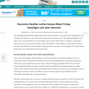 Studie - Black Friday - Roman Kmenta - Onlinehändlernews - 11-2019