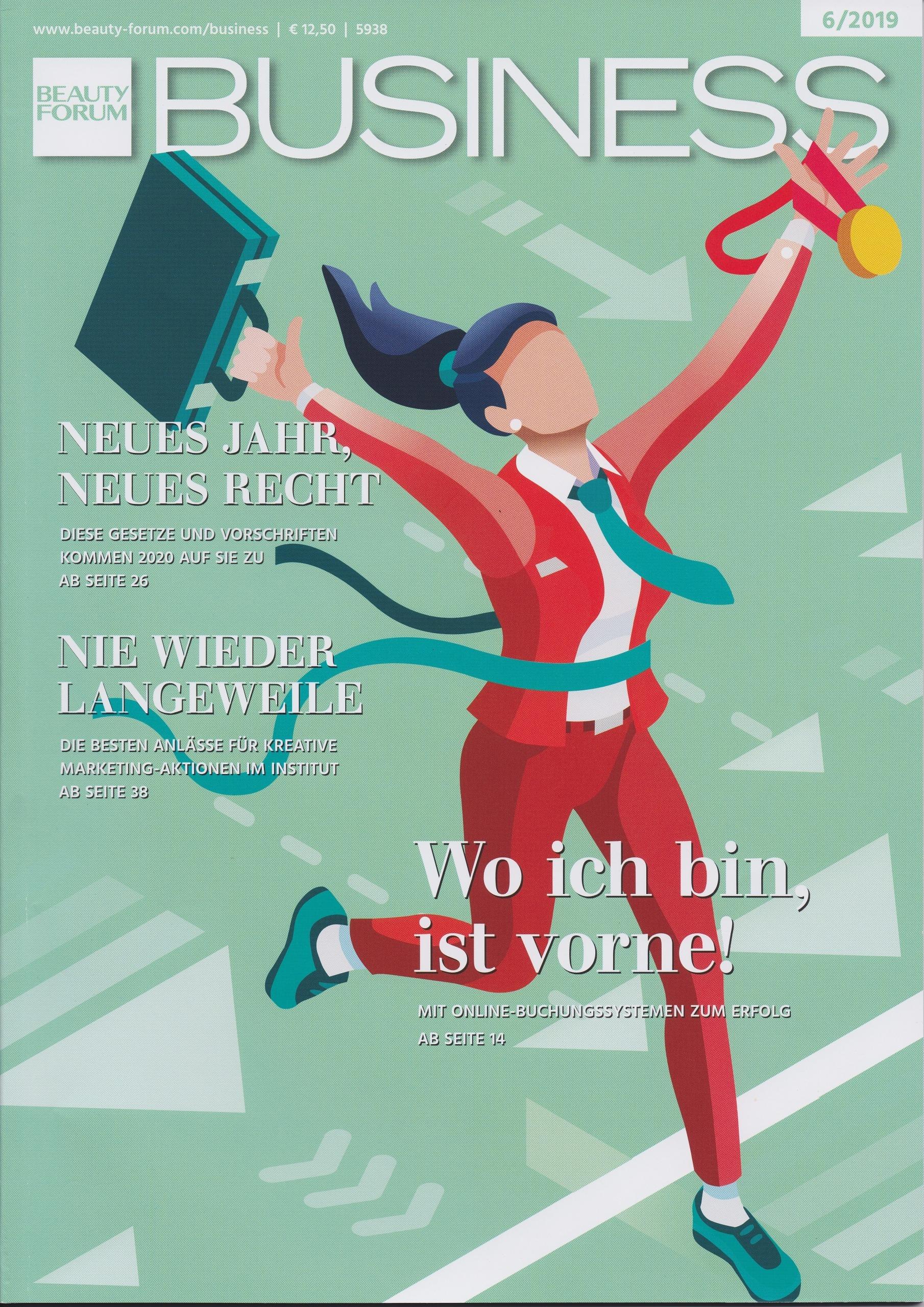 Die profitablste Antwort ist NEIN - Interview mit Roman Kmenta - Beauty Forum Business - 6 2019 Cover