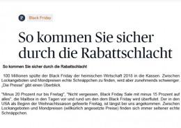 Black Friday 2019 - So kommen Sie sicher durch die Rabattschlacht - Die Presse - 11/2019