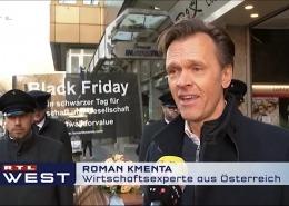 Black Friday Demo 2019 - Preisexperte Roman Kmenta in einem Beitrag bei RTL West