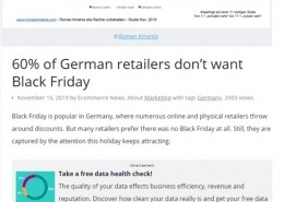 Black Friday Studie 2019 - Ecommerce News europe 11/2019