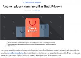 Black Friday Studie 2019 von Roman Kmenta - kosárérték - 11-2019