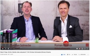 Unlauterer Wettbewerb - Interview Solmecke Kmenta WBS Black Friday Preisaktionen