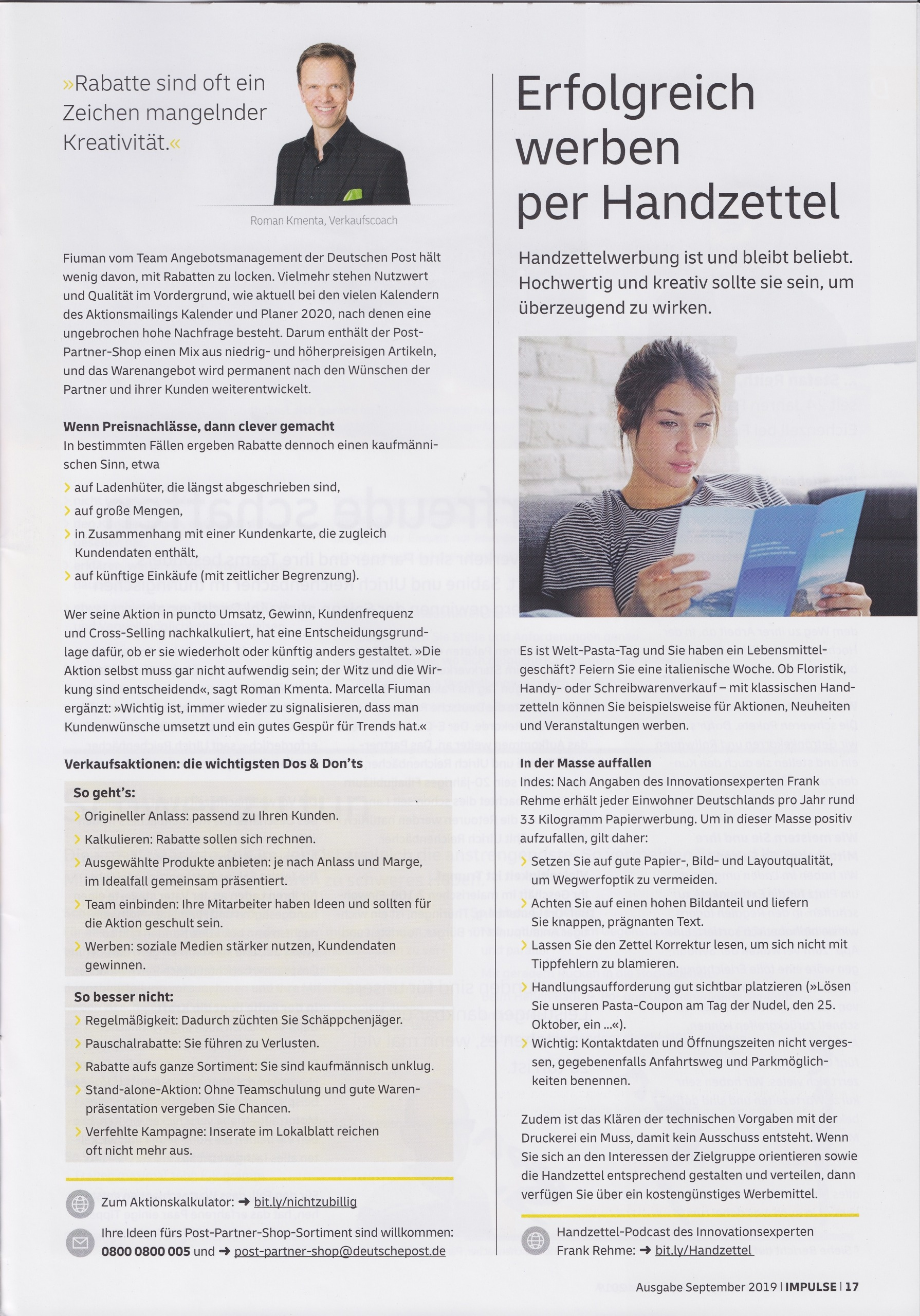 Partner deutsche Post September 2019 - 2