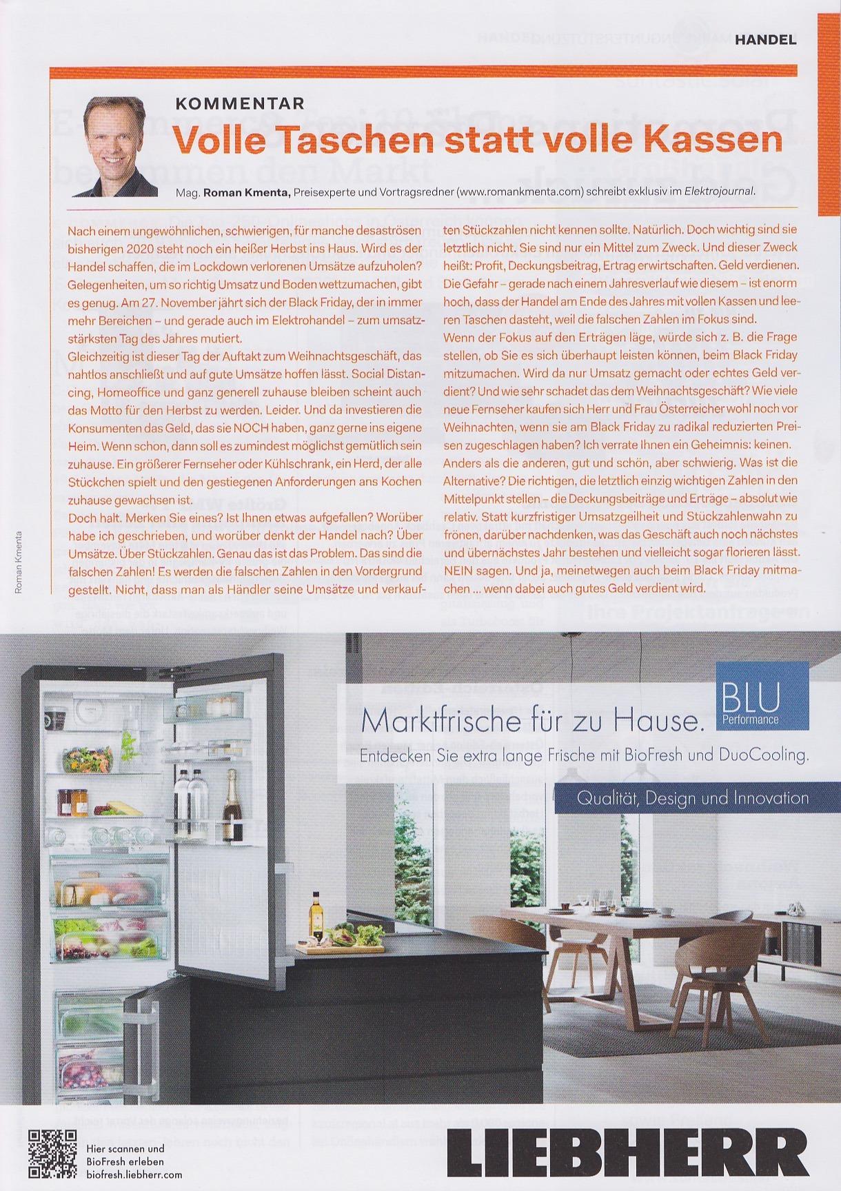 Elektrojournal 10-2020 - Mag. Roman Kmenta