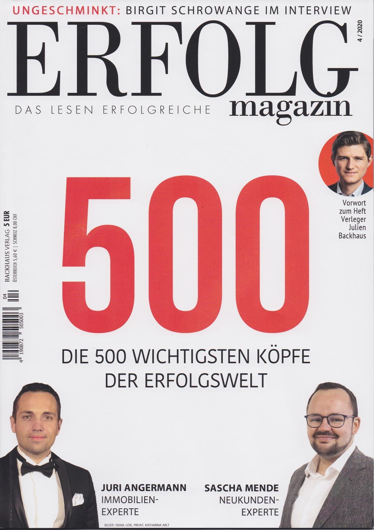 Die 500 wichtigsten Menschen der Erfolgswelt