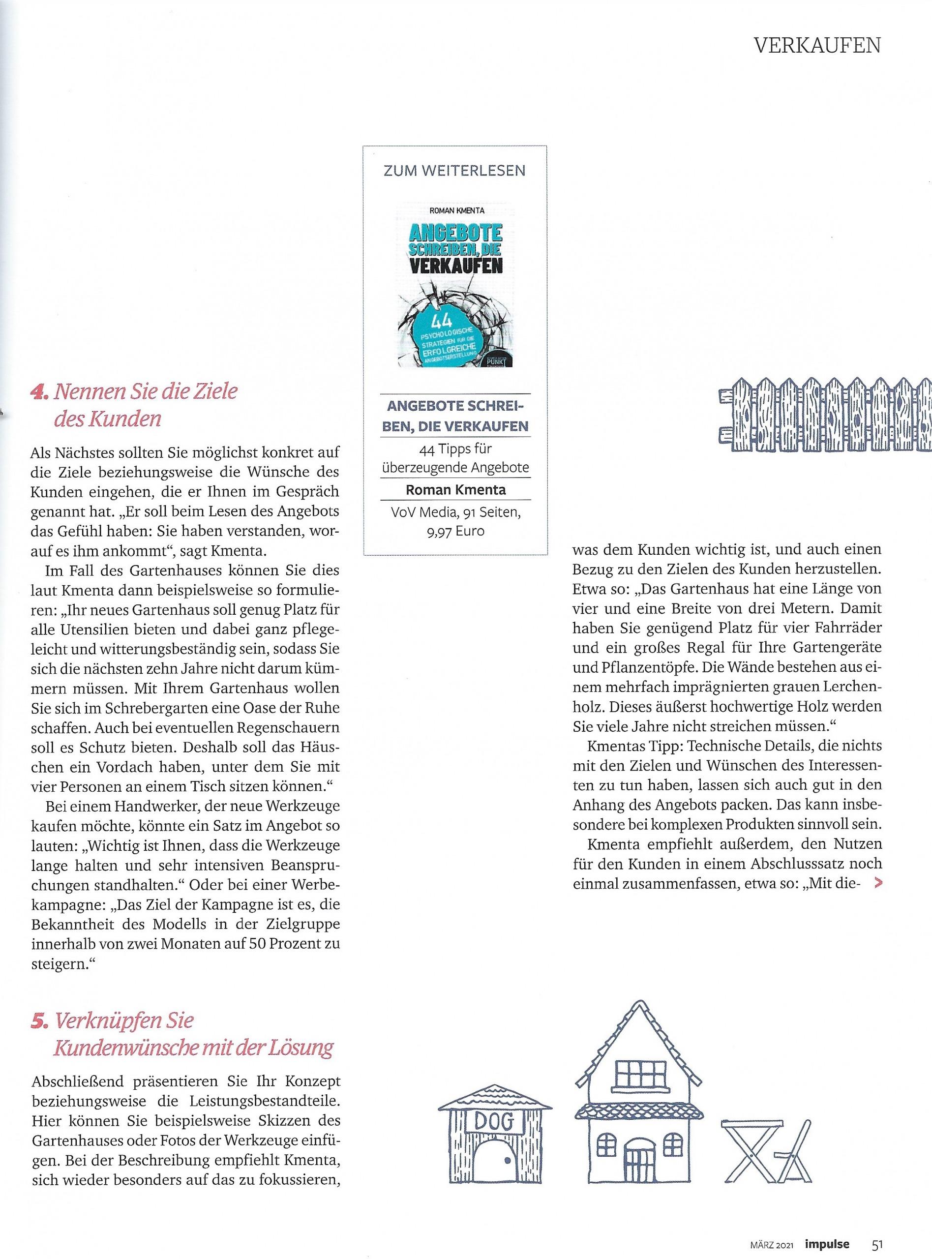 """Artikel """"Unwiderstehlich"""" Impulse Seite 4 - Mag. Roman Kmenta - Autor und Keynote Speaker"""