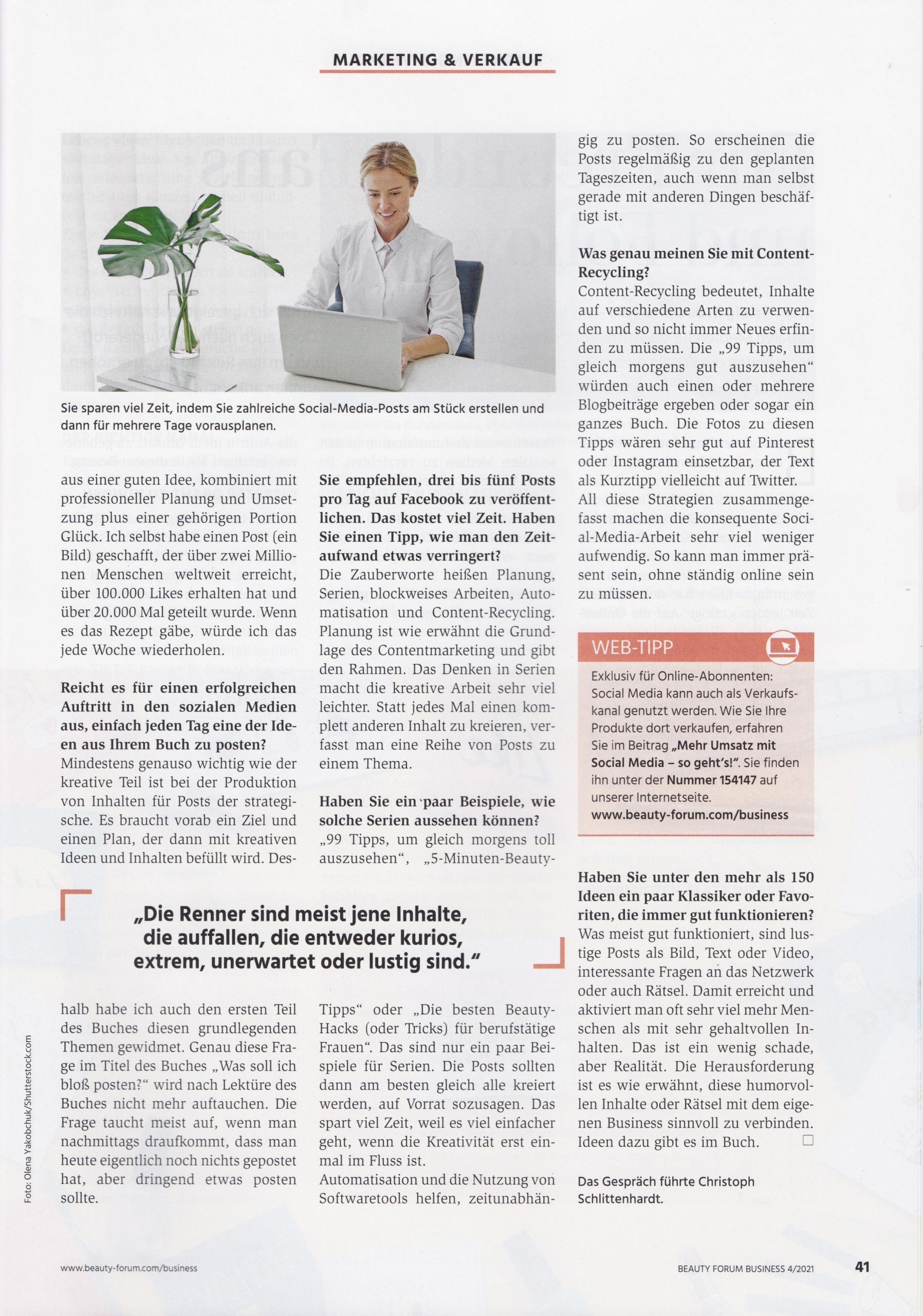Beauty Forum Business - 04-21 - 2 - Mag. Roman Kmnenta - Autor und Vortragsredner