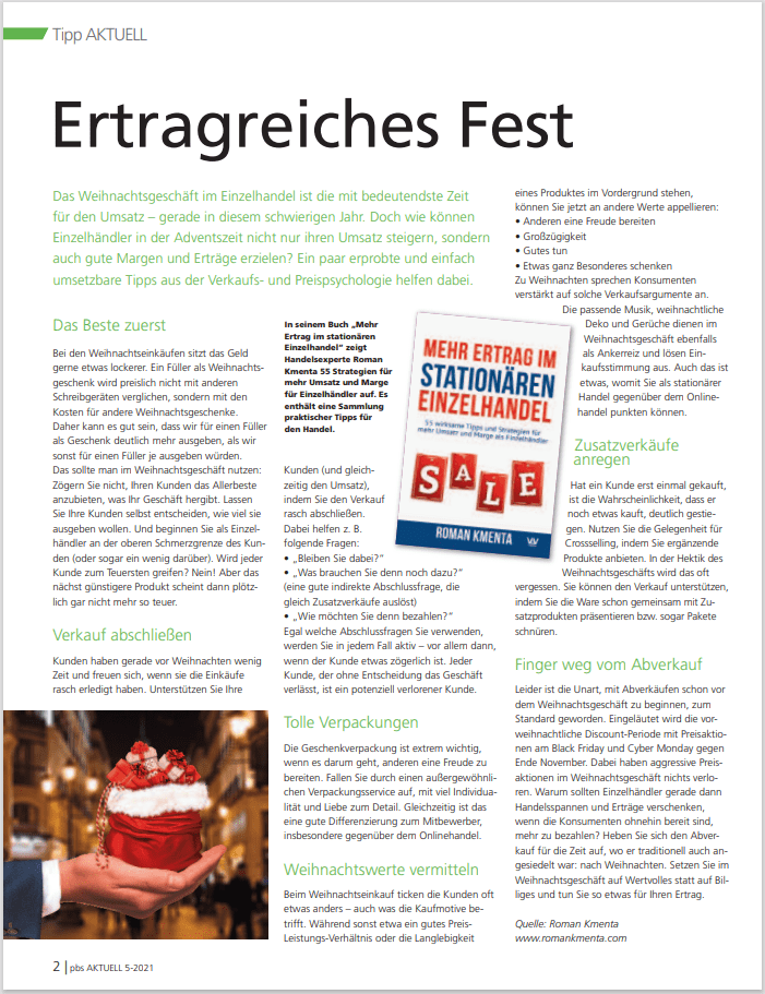 Ertragreiches Fest - pbs Aktuell - 05-2021 - Mag. Roman Kmenta