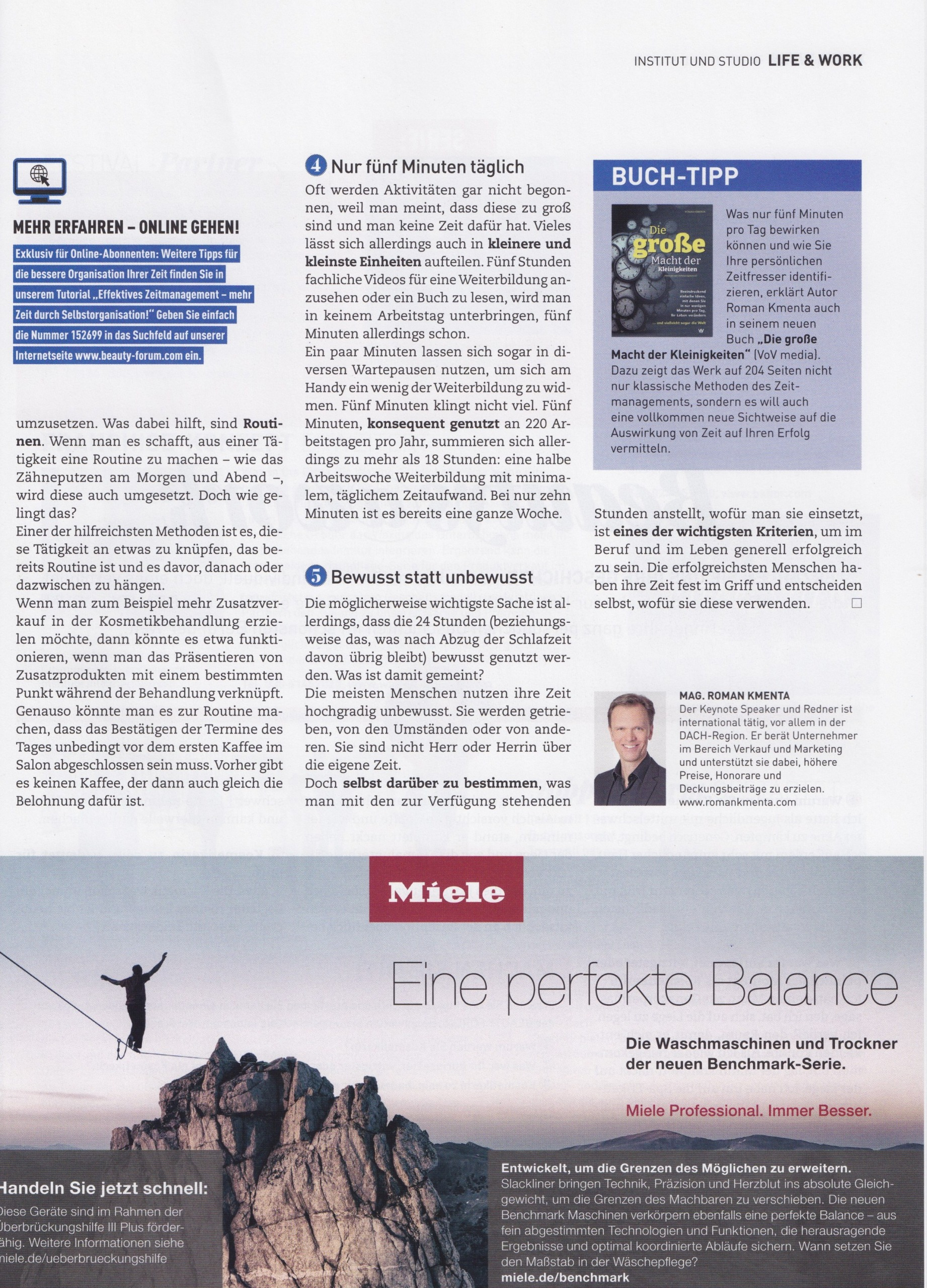 Beauty Forum 05-21 - Zeitmanagement - 2 - Mag. Roman Kmenta