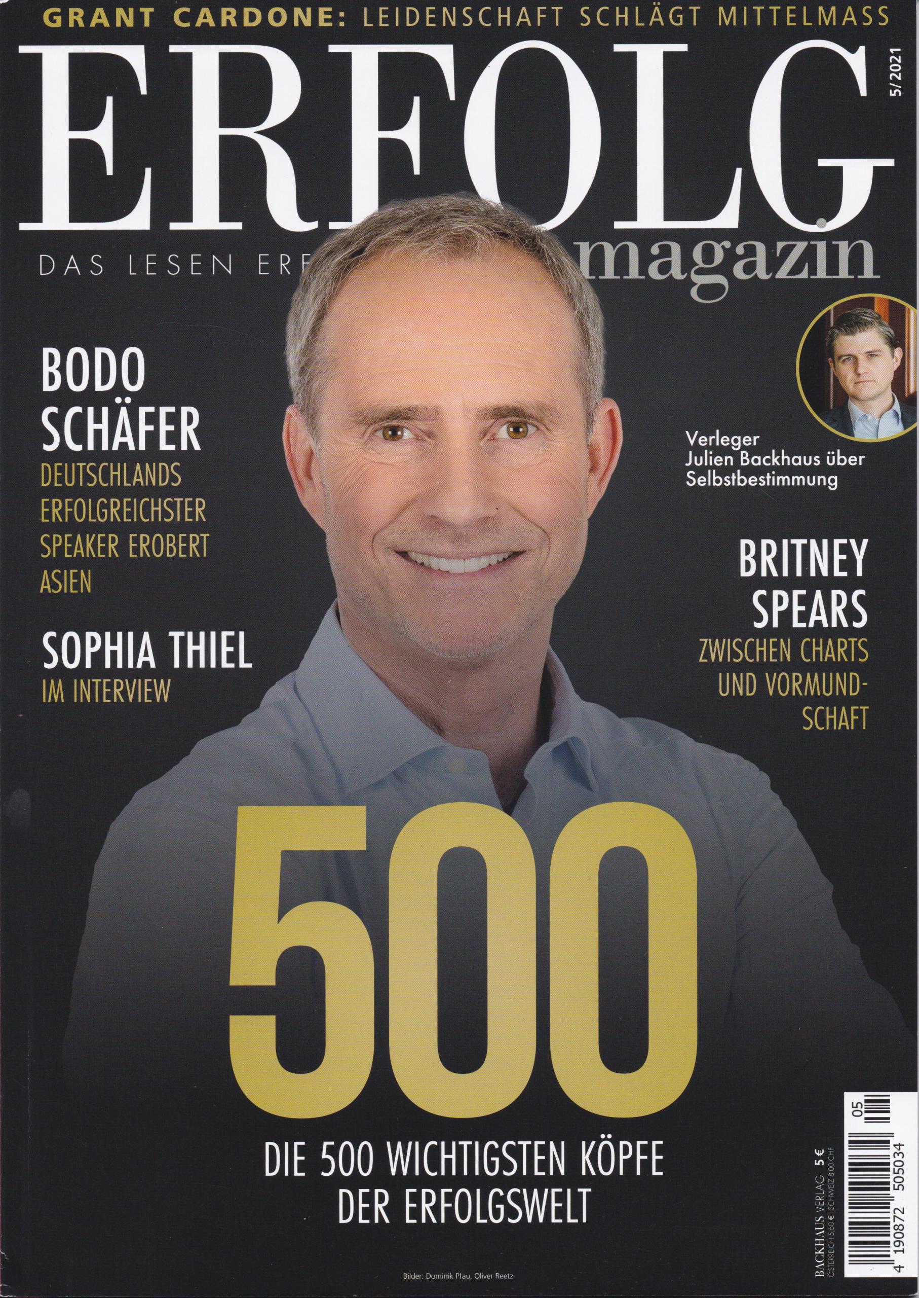 Erfolg Magazin 2021 - Die 500 wichtigsten Köpfe - Cover - Mag. Roman Kmenta